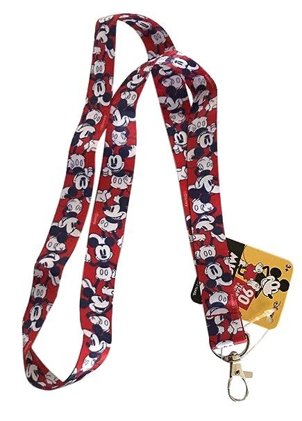 Llavero de Mickey Mouse Poses con cordón rojo: Amazon.es ...