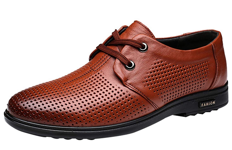 FuweiEncore Herren Sommer Sommer Sommer Hohl Sandalen Derby Schuhe Business Casual Schuhe Schuhe Fahren (Farbe   Braun, Größe   44EU) a11cf8