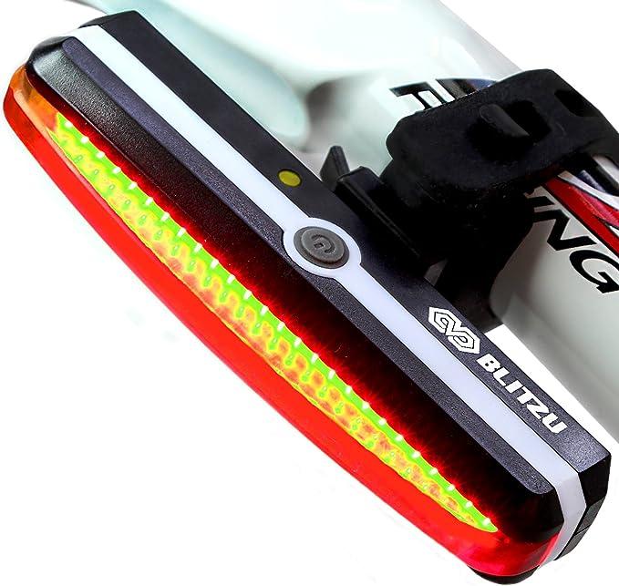 Helmet BLITZU Cyborg 168H USB Rechargeable Headlight SUPER BRIGHT Bike Light
