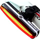 Blitzu Bike Light Cyborg 168T USB Rechargeable Tail Light (Red)