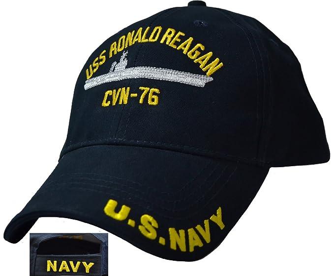 Amazon.com  Eagle Crest USS Ronald Reagan CVN-76 Low Profile Cap ... 3740d14174c9