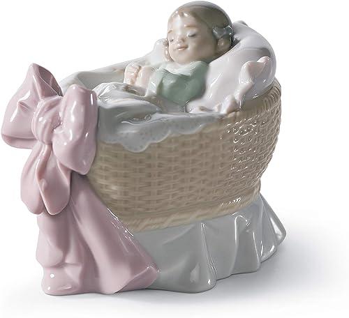 LLADR A New Treasure Girl Figurine. Porcelain Baby Figure.
