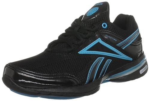 Reebok Women s Easytone Reenew Black Feather Blue Pure Silver Training  Shoes V58671 4 UK d0b3aaf17
