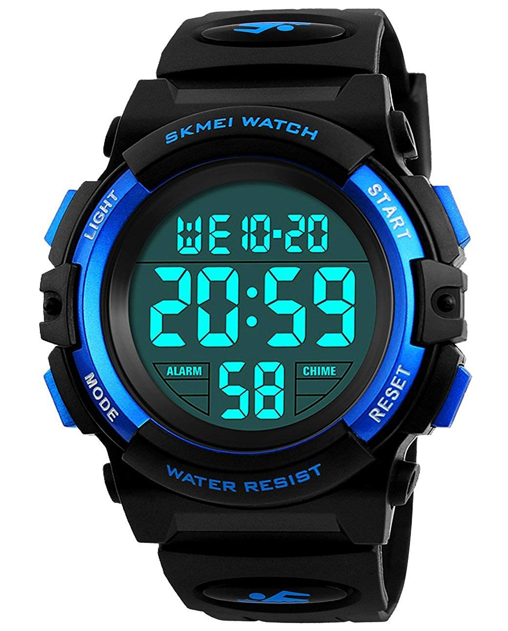Kids Digital Sports Watch for Boys Girls, Boy Waterproof Casual Electronic Analog Quartz 7 Colorful Led Watches with Alarm Stopwatch Silicone Band Luminous Wristatches by cofuo