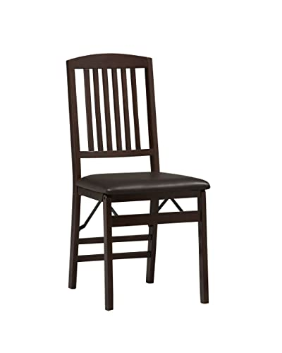 Linon Triena Mission Back Set of 2 Folding Chair