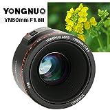 YONGNUO YN50mm F1.8 II Fixed EF Large Aperture Camera Lens for Canon Bokeh Effect AF MF 50mm Lens for Eos 70D 5D2 5D3 600D DSLR