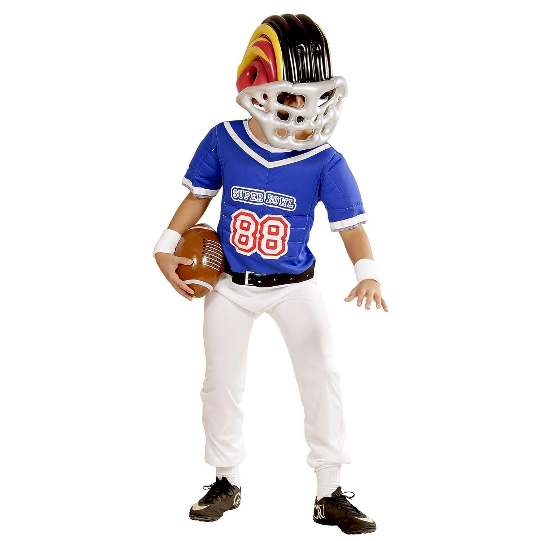 One Size WIDMANN 04866 Aufblasbarer Amerikanischer Footballhelm f/ür Kinder