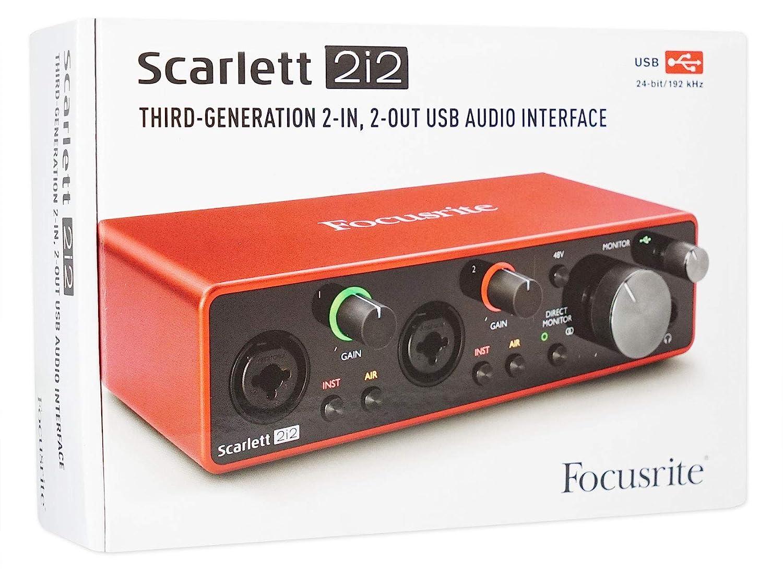 Amazon.com: Focusrite SCARLETT 2I2 3rd Gen 192KHz USB Audio ...