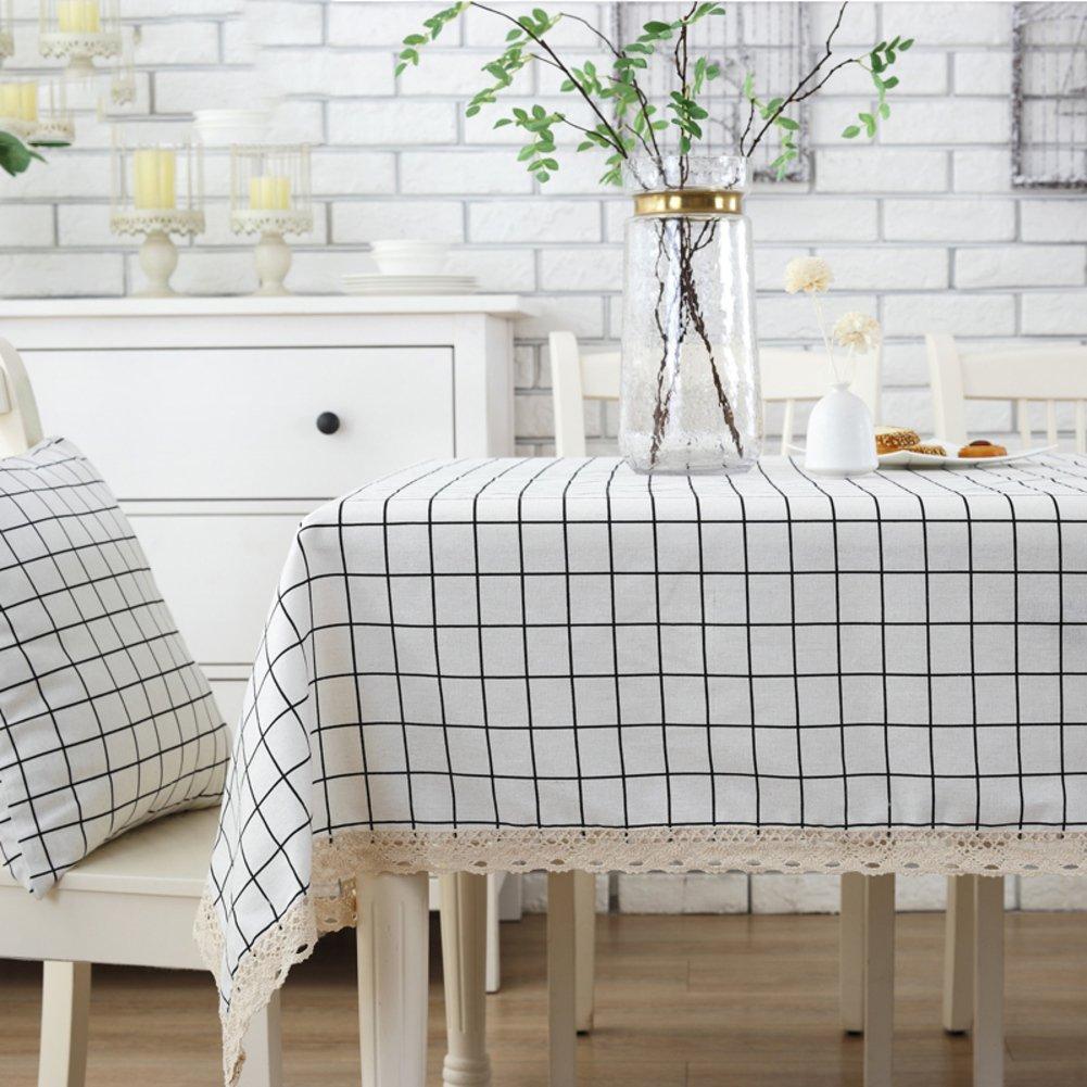 Karierte tischdecke Rechteck & Längliche Vintage square tischtuch Stoff-tischdecke -B 120x160cm(47x63inch) B07873QC9L TischdeckenHohe Qualität und Wirtschaftlichkeit | Ausgezeichnete Qualität