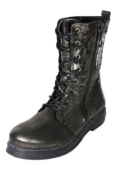 Replay Sadda Boots Stiefel Stiefelette Damen Leder, Farbe:silber ;Schuhgrößen:35