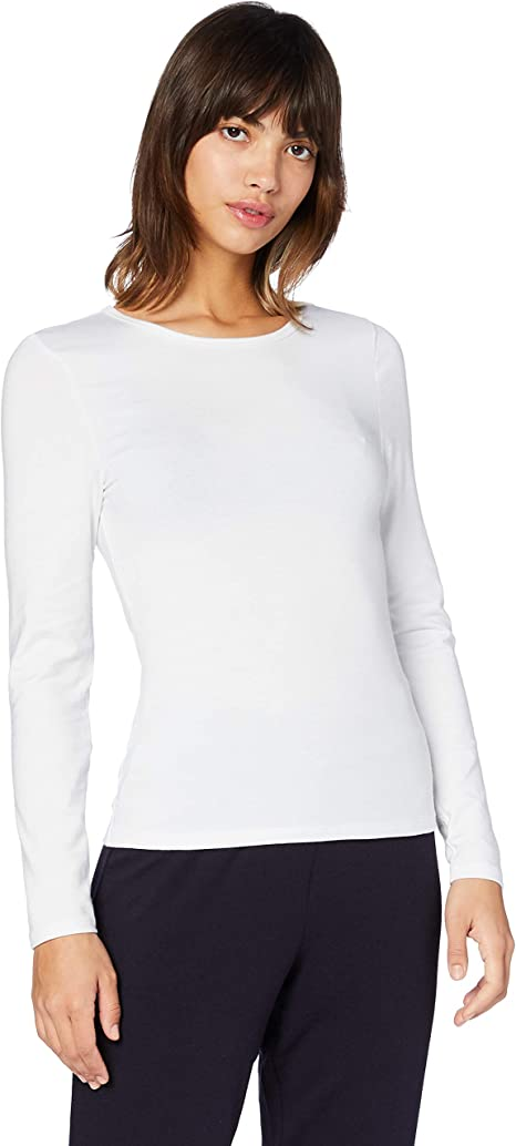 Marca Amazon - Iris & Lilly Camiseta térmica de manga larga Mujer