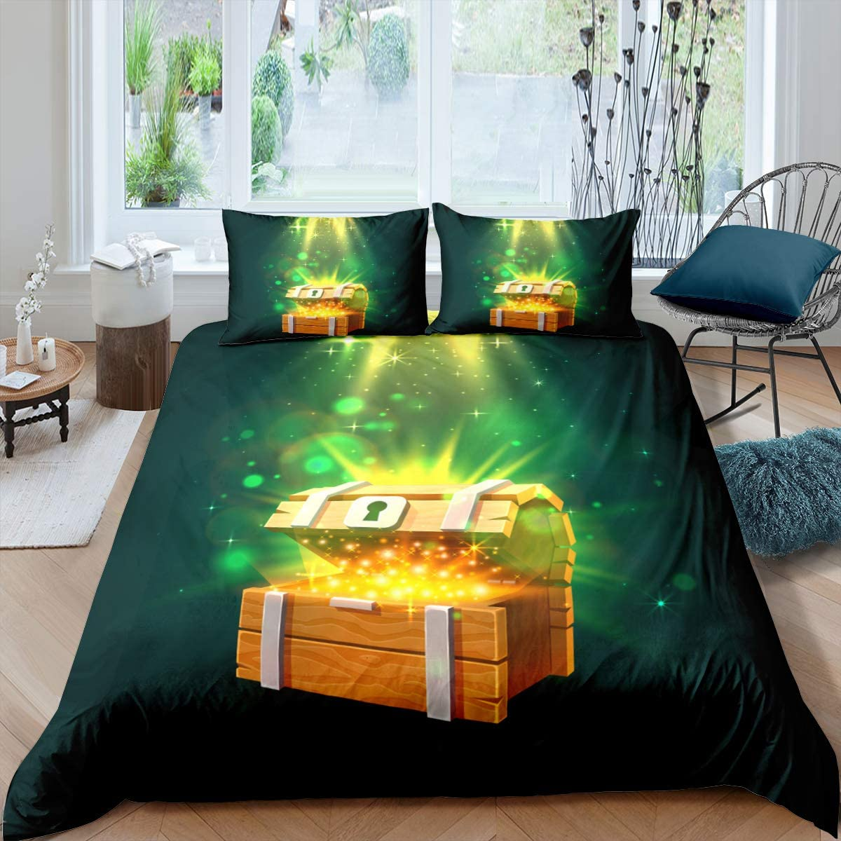 ,Full Size Loussiesd Lizard Comforter Cover Colorful Lizard Duvet Cover Reptile Bedding Set Teal Decor Breathable Quilt Cover for Kids Boys Girls Teens 1 Duvet Cover with 2 Pillow Cases