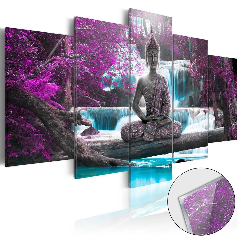 Canvas Print Design Wall Art Painting Decor Zen Decorations for Home Buddha Landscape Artwork Pictures Bedroom (Purple, over size 60''x30'') by Canvas_Art_Design_2015