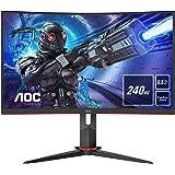 "AOC Monitor C27G2ZE/BK - Pantalla para PC Gaming Curvo de 27"" FHD (resolución 1920 x 1080, 240 Hz, 0,5 ms, Flickerfree…"