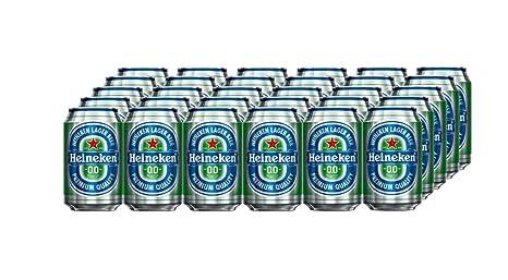 Heineken 00 Cerveza - Caja de 24 Latas x 330 ml - Total: 7920 ml