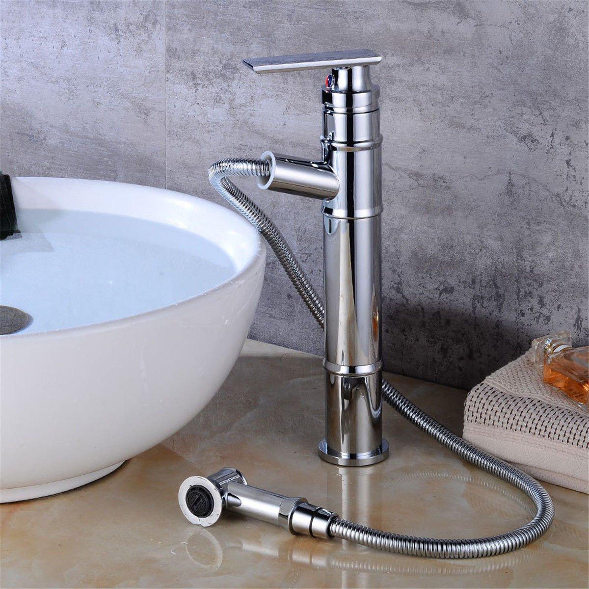 MEIBATH Waschtischarmatur Badezimmer Waschbecken Wasserhahn Küchenarmaturen Verchromt Pull-Out-Warmes und und und Kaltes Wasser Küchen Wasserhahn Badarmatur d054d5