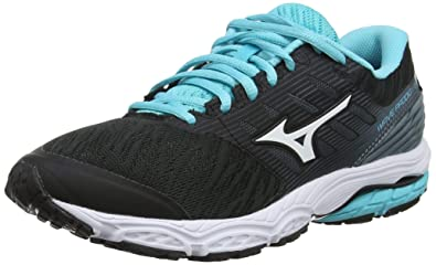 d8a4813cfa95 Mizuno Women's Wave PRODIGY 2 Running Shoes, (Black/White/Stormy Weather 16