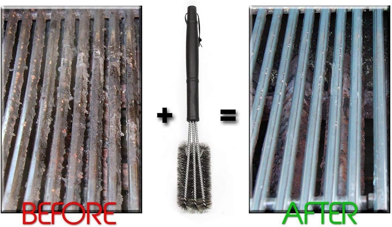 Edelstahl-Tiefgrillreinigung. Grillreinigungsb/ürste Tiefenreinigung dreischichtige Stahlb/ürste
