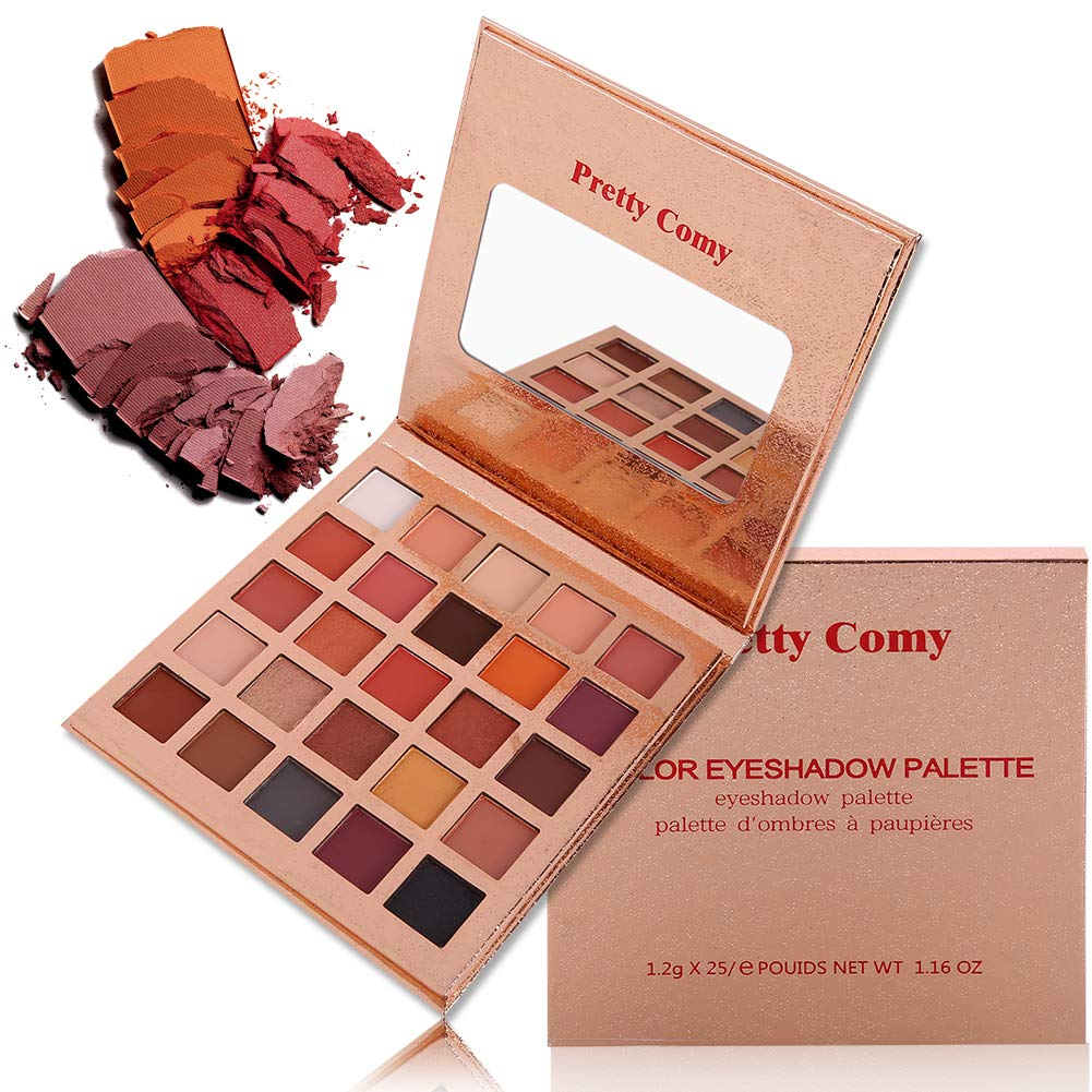 Pretty Comy 16 colores sombra de ojos mate Shimmer impermeable durable paleta de sombra de ojos paleta de regalos de cumpleaños