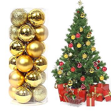 1bcb310bf31 Magicfun 24 Piezas Bolas de Navidad Adornos de Bola de Navidad  Inastillables Brillante árbol de Navidad Colgantes Decorativos para Colgar  Bolas de Navidad ...