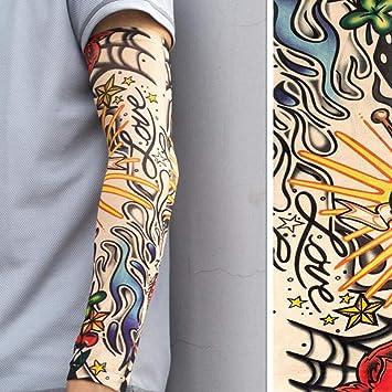 ddellk Sola Manga del Tatuaje, Manguitos Falsos Unisex del Brazo ...
