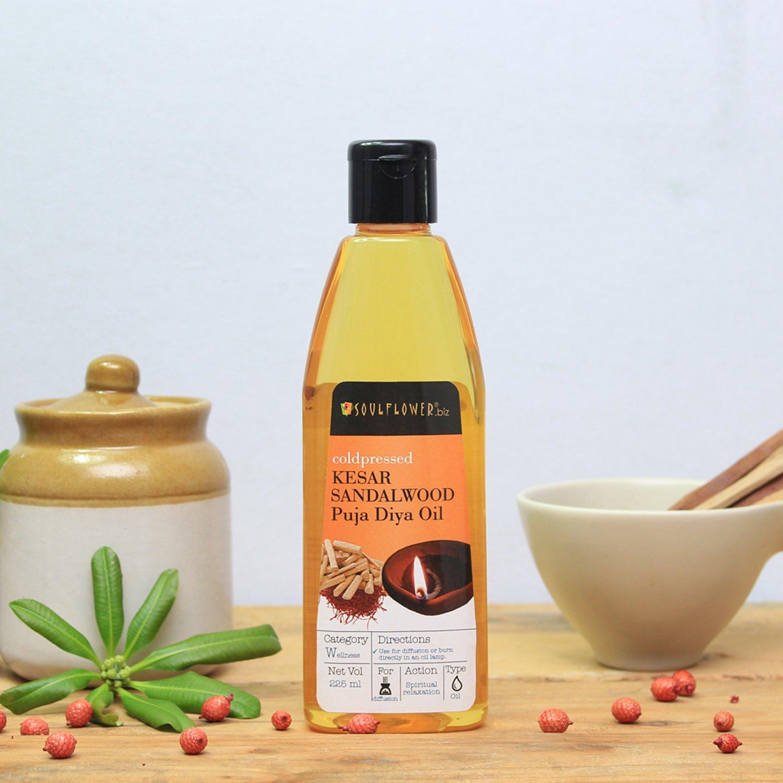 Soulflower Kesar Sandalwood Puja Oil, 225ml