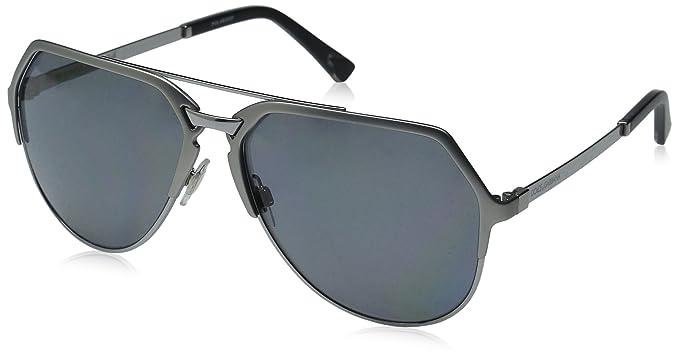 94ae15e04081 D G Dolce   Gabbana Men s 0DG2151 Polarized Aviator Sunglasses  Dolce and  Gabbana  Amazon.in  Clothing   Accessories
