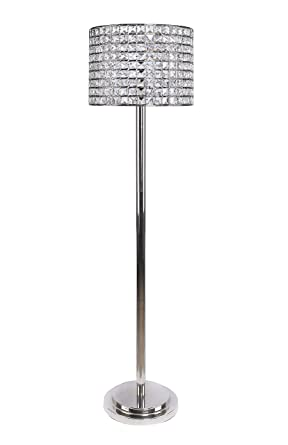 Grandview Gallery 58 Polished Nickel Modern Glam Floor Lamp With