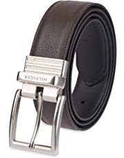 bc19b62dcbe Tommy Hilfiger Reversible Leather Belt - Casual for Mens Jeans with Double  Sided Strap and Silver