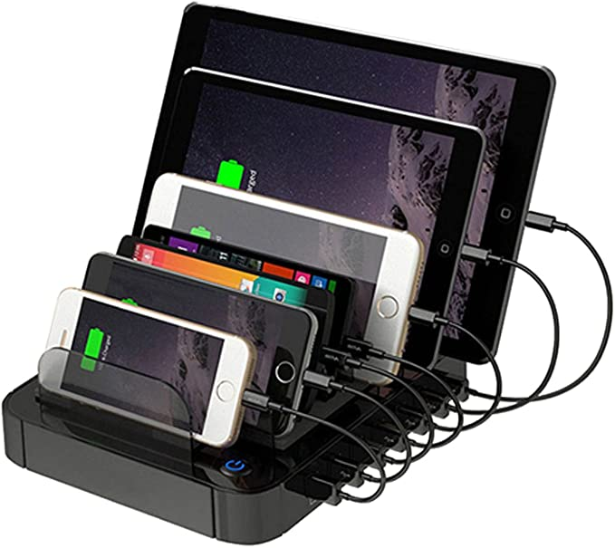 i-Tentek 7-Port Universal USB Charging Station Dock for Smartphone ...