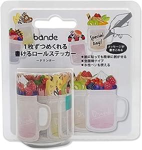 Bande Writable roll Sticker - Drinks & Beverages - for Scrapbooking Art Craft DIY, Writing Note Sticker