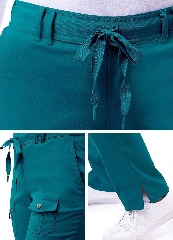 Skinny Leg Yoga Scrub Trousers Adar Pro Scrubs for Women