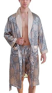 3eda518297 Men s Pajamas Two Piece Summer Loungewear Bathrobe Pants Pajama Comfortable  Set Lightweight Loungewear Homewear Pajama Bathrobe