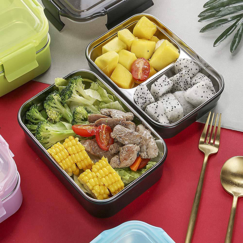 Isolamento a Tenuta stagna 1300ml Bento Box Scatole bento HUAFA Lunch Box Senza BPA Blu