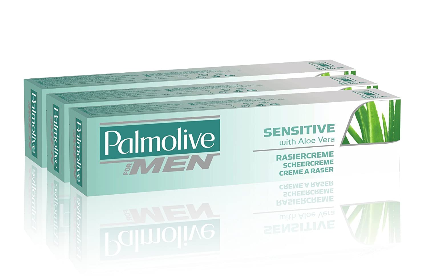 Palmolive Sensitive Lather Shave Cream with Aloe Vera, 100 ml - Pack of 3