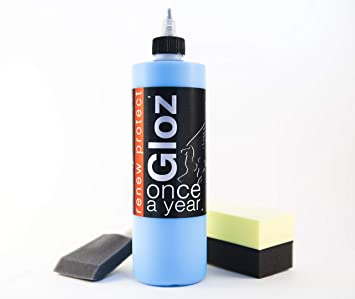 Gloz Once A Year Restorer Plastic And Vinyl Renew Color Prevents Tire Dry Rot Weather And Salt Proof Uv Block High Gloss Dry Seal 16oz Kit Cleaning Storage Maintenance