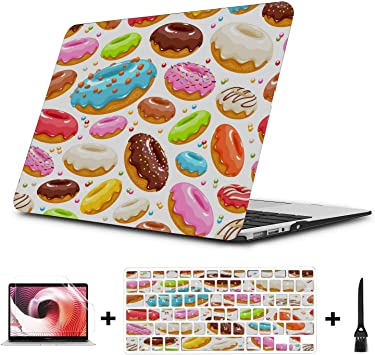 Laptop Case Sweet Beautiful Colorful Cup Cake Plastic Hard Shell Compatible Mac Air 11 Pro 13 15 Case MacBook Pro 13 Protection for MacBook 2016-2019 Version