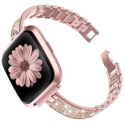 Amazon.com: TOYOUTHS Pulsera elegante compatible con Fitbit ...