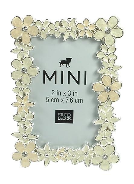 Amazon.com - Studio Decor Mini Floral Picture Frame with Creamy ...
