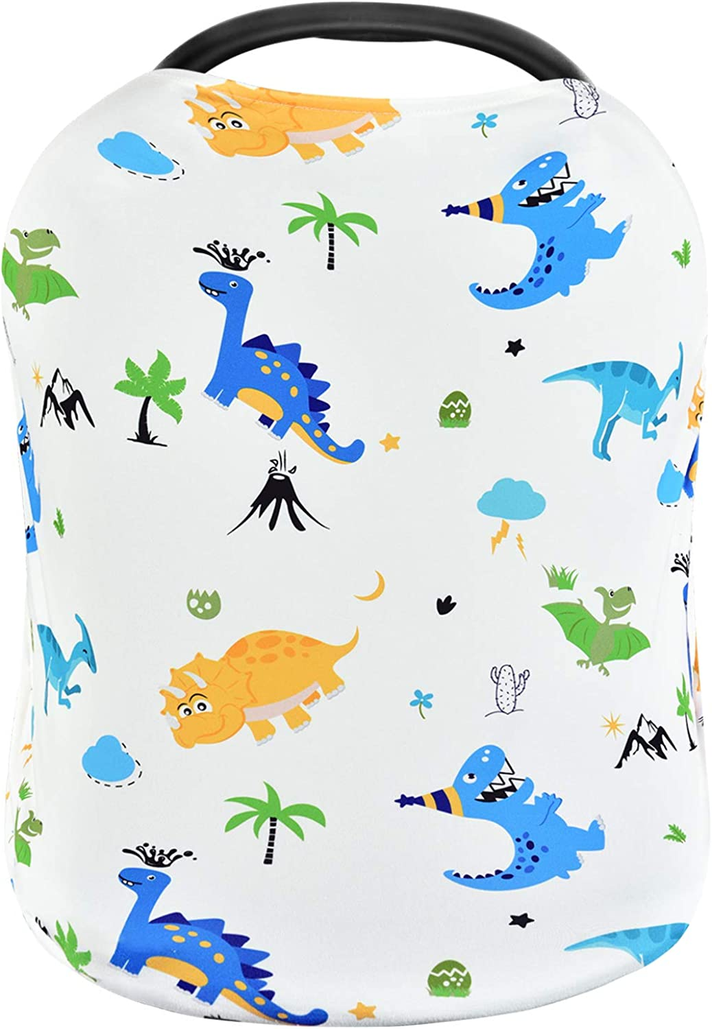 Dinosaur Carseat Canopy Breastfeeding Cover Baby Nursing Cover Car Seat Covers