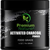 Activated Charcoal Teeth Whitening Powder - All Natural 4 oz Black Charcoal Charcol Teeth Whitener Charcole White Teeth Powder Safe & Gentle for Gums Sensitive Teeth Brighter Smile