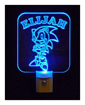 Personalized Sonic The Hedgehog Night Light, LED Light