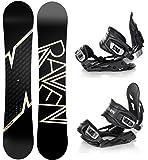 Snowboard Set: Snowboard Raven Pulse Camber + Bindung Raven s400 Black M/L