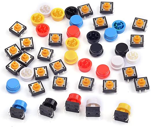 Tastschalter Set Button Momentary Tactile Push Schalter Set 4.3mm-14mm