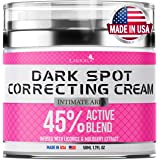 Dark Spot Remоver Cream for Intimate Areas - Body - Face - Bikini and Sensitive Areas - Made in USA - Underarm Cream with Hya