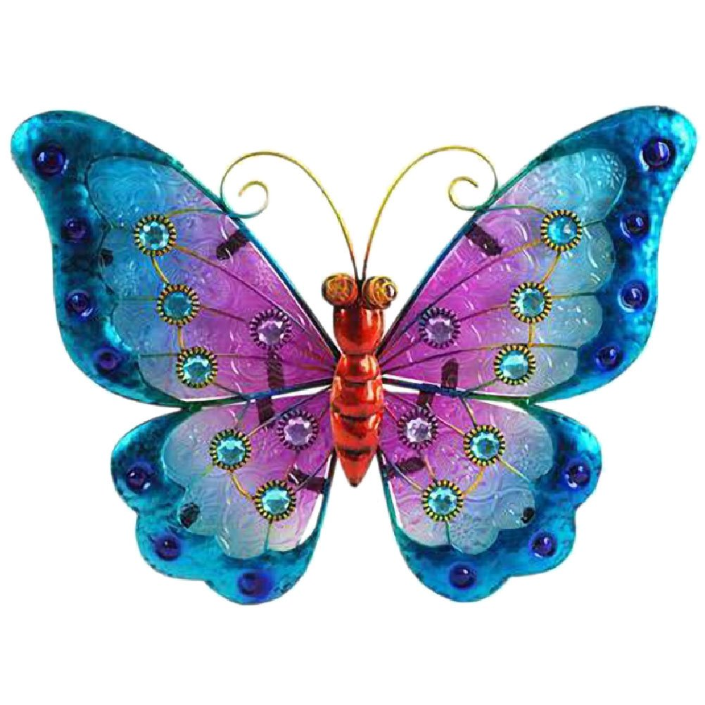 THE WORLD OF ANIMALS Butterfly Wall Decoration 21 x 24 cm - Blue Model by THE WORLD OF ANIMALS (Image #1)
