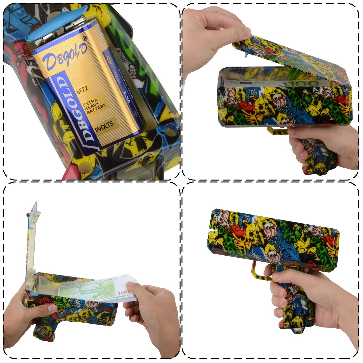 DDGG Make It Rain Money Gun Cash Gun Christmas Gift Cash*200 by DDGG (Image #3)