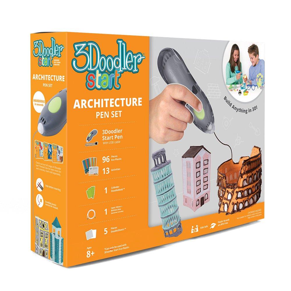 3Doodler Start Architecture Themed 3D Pen Set for Kids, Grey Pen, with 4 Packs of Refill Plastic Filaments by 3Doodler (Image #3)