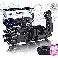EMOCCI Bubble Gun Gatling Bubble Machine ، Automatic Bubble Blaster 2021 New Cool Toy Bubble Party Favors للأطفال في…
