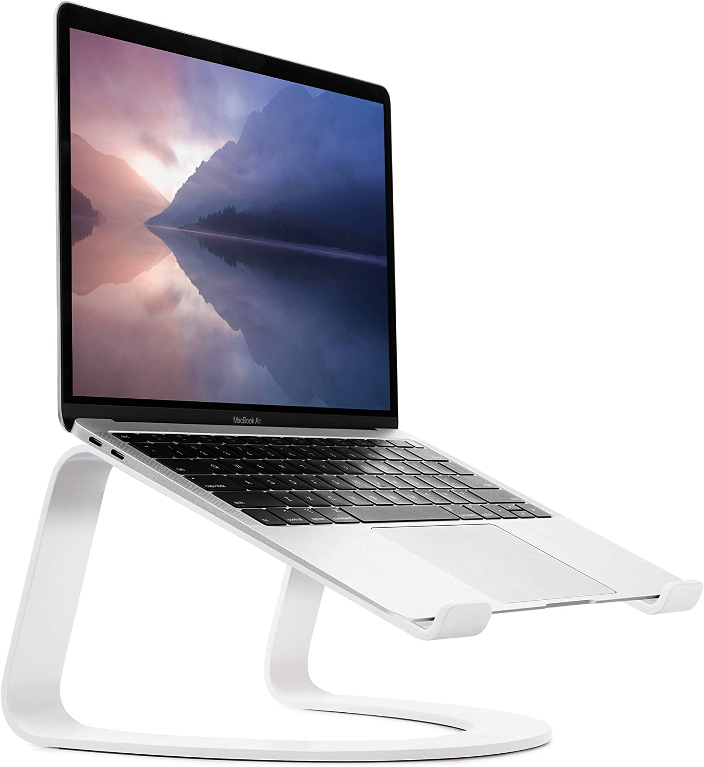 Twelve South Curve for MacBooks and Laptops | Ergonomic desktop cooling stand for home or office, white (special edition)